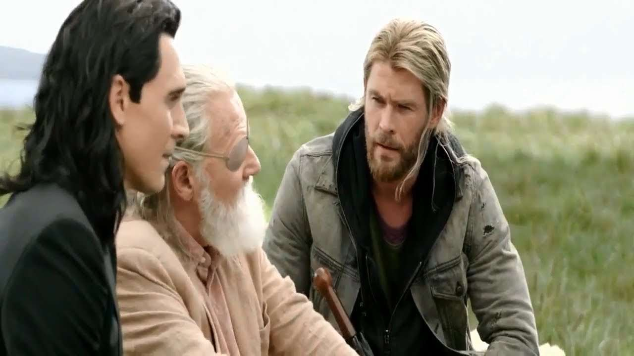 Thor Loki and Odin in Ragnarok