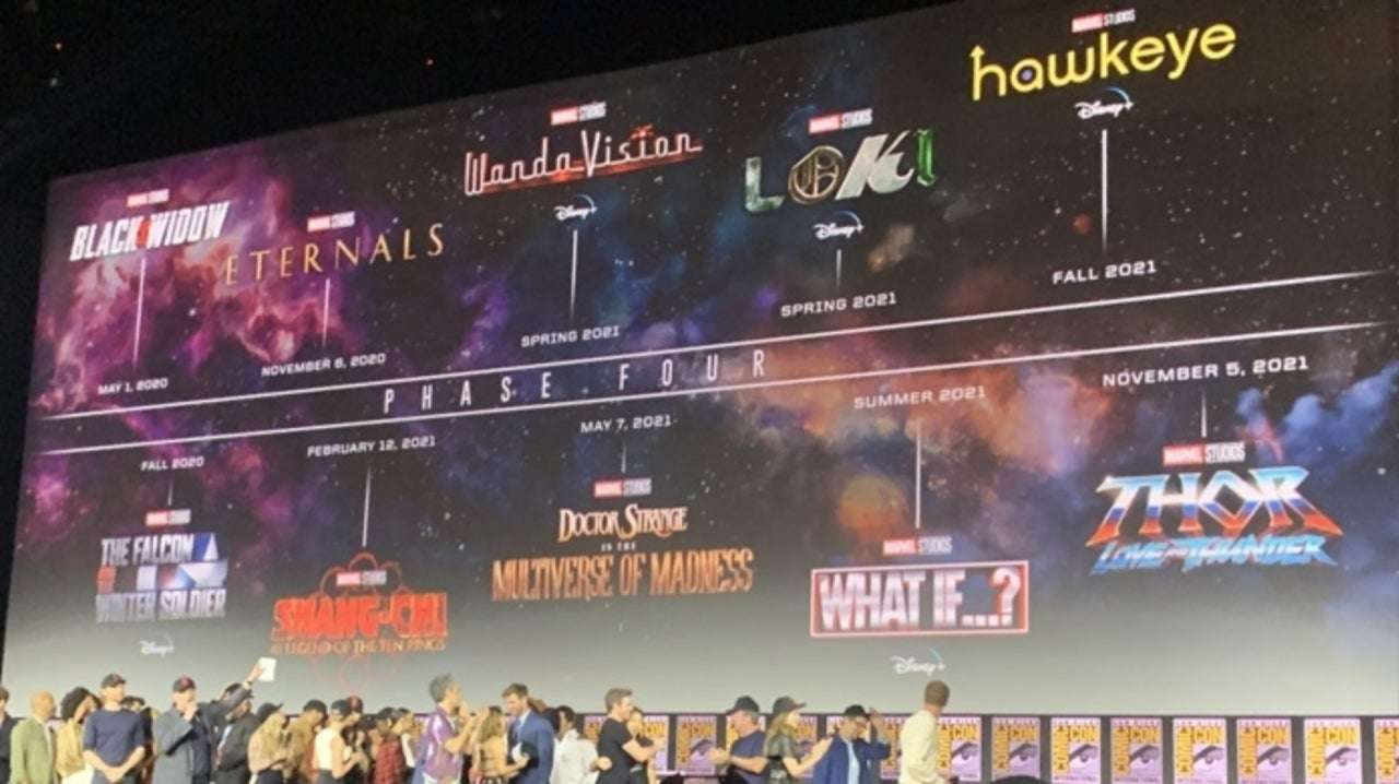 All Marvel phase 4 movies