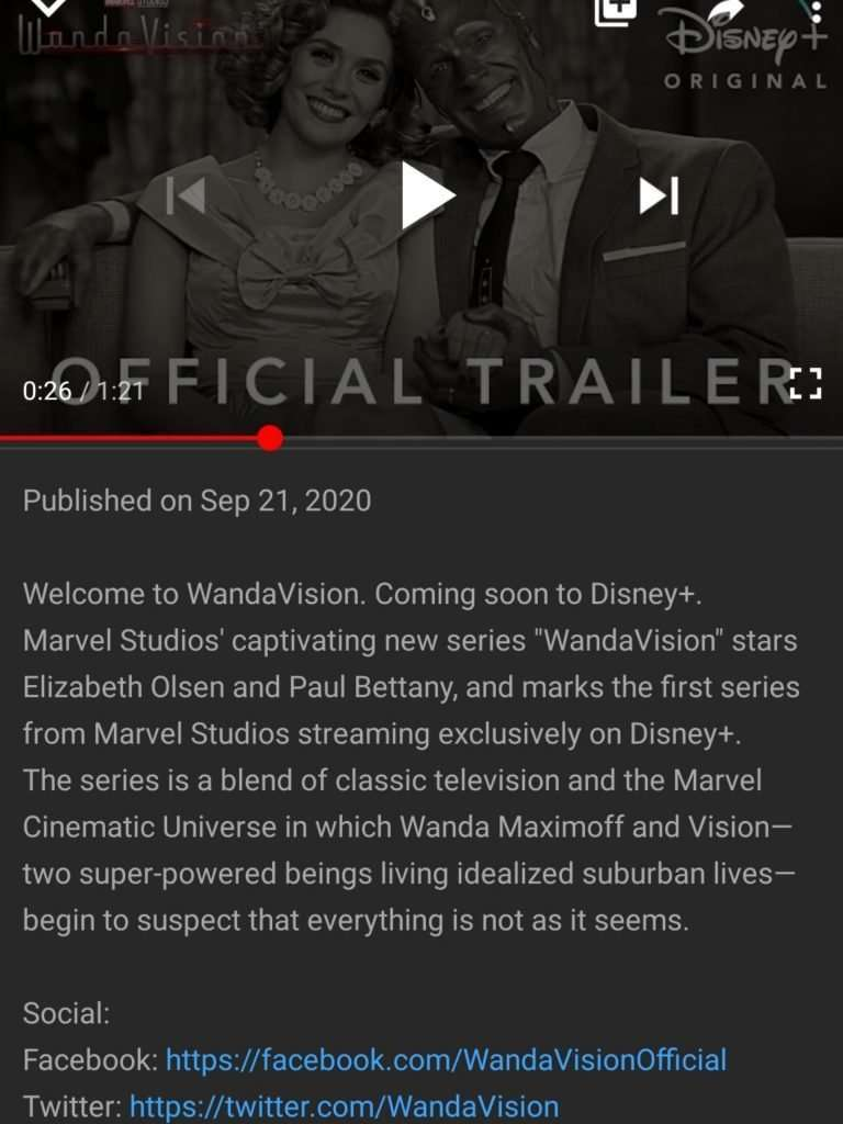 Wanda Vision Youtube Description